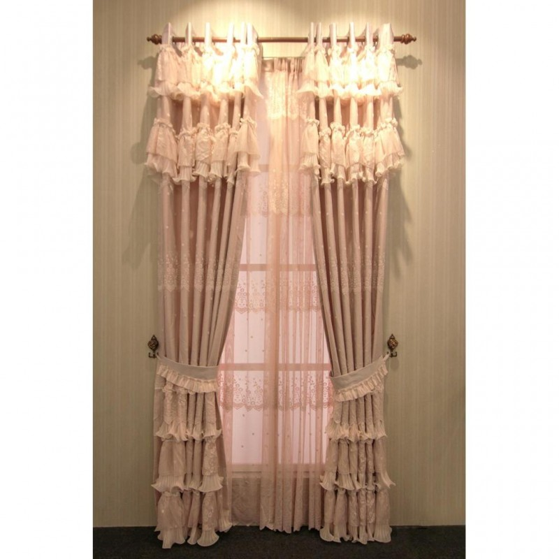 Stunning Lace Ready Made Curtain Set
